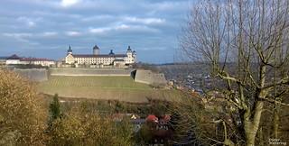 Blick vom Käppele zur Festung Marienberg (Explore vom 15.01.18)