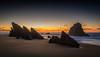 Winter Sunset (Fernando Piçarra) Tags: sunset horizon over water seascape coastline bay dusk sea dramatic sky beach sunrise twilight jetty clouds ocean blue long exposure rocks sand sun coast light night sintra adraga praia