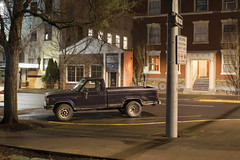 1989 Ford Ranger XLT (Curtis Gregory Perry) Tags: salem oregon ford ranger 1989 1990 1991 night long exposure ymca truck pickup vehicle nikon d810