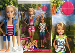 Barbie Sisters: Barbie and Stacie Set Review (toobila) Tags: barbieplayset barbiesisters staciedoll barbie barbiedoll blonde stacie mattel dollphotography toys toy park fun romper pink orange green