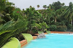 blue pool :) (green_lover (your COMMENTS are welcome!)) Tags: pool water siampark tenerife canaryislands spain trees palms vegetation green