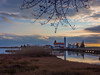 Chapel in the lake 2 (asamoal2) Tags: chapel sunset sky dusk building landscape water tree grass nature travel walkway pier lake sea