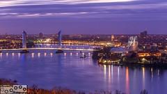Blue hour - Bordeaux France (Window on the universe.) Tags: bordeaux fleuve garonne river town bridge pont chaban baba cité vin wine lumière blue hour heure bleue nuit night long exposure