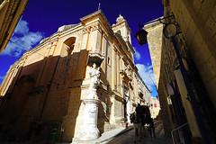 Narrow sreets of Mdina old town, Malta (Andrey Sulitskiy) Tags: malta mdina