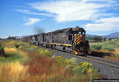 25 Years and Still Going Strong (jamesbelmont) Tags: americanfork utah drgw sd45 euchq manifest rural agriculture