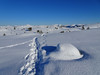 On the narrow road. (Mrs.Snowman) Tags: emblemsfjellet hiking cold snow ålesund westernnorway winter
