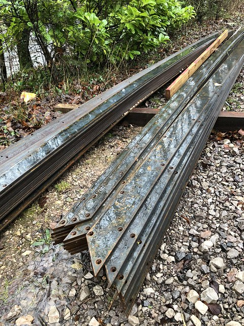 SW8's rails waiting to be installed