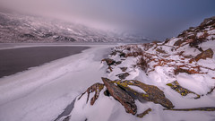 Frozen in time.....Llyn Ogwen lake. (Einir Wyn Leigh) Tags: landscape love frozen lake snow wales cymru ice storm outside water mountains light nikon sigma