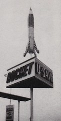 Rocket U-SAVE Gas - Sign by National Neon Co., Seattle, WA (hmdavid) Tags: vintage sign signsofthetimes magazine roadside advertising midcentury modern 1950s 1959 rocket usave gas seattle washington neon display rotating googie space gasstation