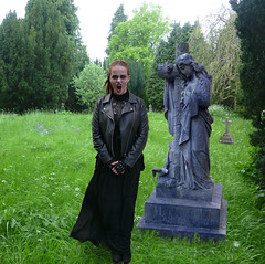 angel 09 (The Lure of Salvage) Tags: grimm little girl tombstone headstone graveyard cemetery dark gothic gothik strange eerie sexy kindness stranger wgw hollingworth lureofsalvage lure salvage fishfork whitby goth fest oct 2017