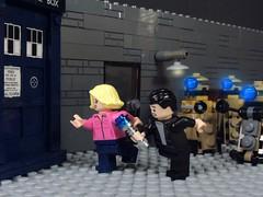 Exterminate! (-Metarix-) Tags: lego minifig doctor who ideas rose tyler ninth chris eccelston custom dalek exterminate daleks