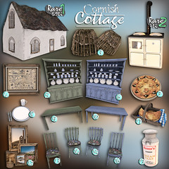 [Kres] Cornish Cottage ([krescendo]) Tags: stmichaels mount castle marazion penzance west cornwall cornish british landmark architecture exterior history medieval gothic fort landscape nature sunset dusk stone rock mounts bay island causeway sea tide water sky seaside coastline nopeople outdoors southwest england uk unitedkingdom europe travel area outstanding natural beauty aonb summer secondlife sl theepiphany epiphany epiph kres krescendo gacha rare