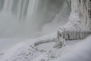Niagara Falls encased in ice