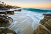 Windansea at Sunrise: 1/29/18 no.2 (tltichy) Tags: lajolla windansea beach blue california coast landscape longexposure morning ocean outdoors pacific reef sandiego seascape socal southerncalifornia water waves yellow