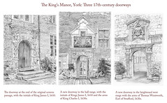 King's Manor, York: Three doorways
