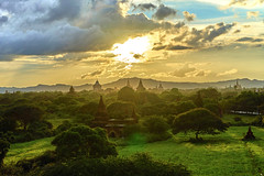 Sunset in Bagan (DavidTeufel) Tags: bagan myanmar travel backpack adventure asia sea sony alpha sunset pagoda culture archeology burma sky temple buddhism sun colourful colours