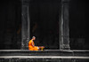 Monk at Angkor Wat (Elise Lau) Tags: monk monks temple cambodia khmer rouge cambodian buddha buddhist temples angkor wat