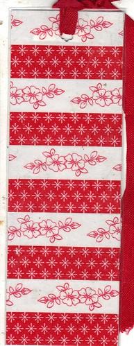 Red Flower bookmark