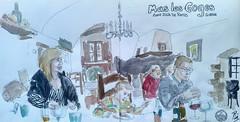 Más Les Goges (Fotero) Tags: usk urbansketch urbansketcher urbansketching cuaderno12 acuarela watercolor dibujo cuaderno sketchbook restaurante familia comida girona