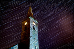 Time Stand Still (ianrwmccracken) Tags: stone night nikon church stars lowlight nikkor2470mmf28 starstax longexposure fife scotland ianmccracken trail markinch tower building sky