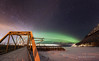 The View (Traylor Photography) Tags: alaska aurora footprints abandoned knikriver winter bridge milkyway palmer butte fog panorama northernlights perspective oldglennhighway unitedstates us