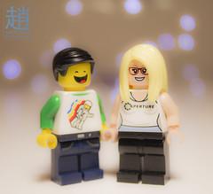 Brick Love (mikechiu86) Tags: brick love lego couple bokeh minifig me minifigure collectible