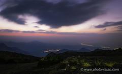 After Sun Set (Photonistan) Tags: sunset colors sky red orange yellow mountain taif citylight nikon d7100 wideangle photonistan photography nightphotography nightshots longexposure explore