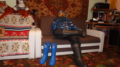 posing in winter suit and wellies (Axelweb) Tags: gay lad man guy overalls coveralls boilersuit chemical suit chemicalsuit wellingtons wellies rubber leather rubberboots boots mask gas gasmask latex fetish winter