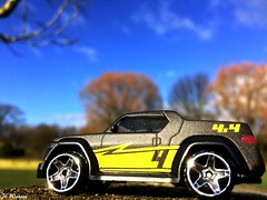 Road Trip (JoeyDee83) Tags: diecast toy car sun summer trees autumn outside outdoors vehicle 4x4 blue sky