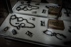 Old Lavaca Jail - Interior (krazy_kathie) Tags: jail old decay haunted cell urbex texas handcuffs artifacts hallettsville