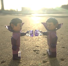 Wonder twin powers: activate! (ColbyBricks) Tags: colby custom bricks lego toy minifigure outdoor dc super heroes powers zan jayna