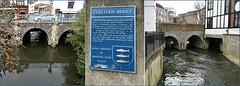 Clattern Bridge : Kingston. (Loco Steve) Tags: the clatternbridge hogsmillriver kingstonuponthames bridge london surrey tryptich history water football