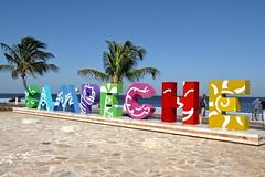 Campeche postcard (Chemose) Tags: mexico mexique yucatán campeche océan golfe gulf water eau postcard cartepostale hdr canon eos 7d mars march