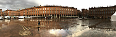2018 One Day in Toulouse #1 (dominotic) Tags: 2018 toulouse france panorama citysquare urbanstreet iphonex streetscene history sundaylights architecture rain explore
