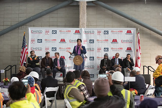 January 11, 2018 Entertainment Sports Arena Topping Off Ceremony