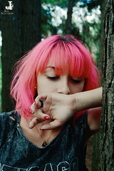 Nataly Reis (jullieph) Tags: beauty forest pinkhair cute smile tattoo