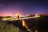 Clifton Suspension Bridge, Bristol, UK (KSAG Photography) Tags: suspensionbridge bridge night nightphotography landscape skyline cityscape wideangle hdr bristol uk england unitedkingdom europe avon somerset river gorge engineering history heritage brunel city urban nikon february 2018