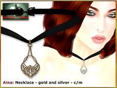 Bliensen - Aina - necklace (Plurabelle Laszlo of Bliensen + MaiTai) Tags: roleplay celtic celts viking antique vintage medieval jewelry necklace earrings bliensen fantasyjewelry ethno boho