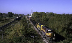 Coming and Going at Van Dyne (ac1756) Tags: wisconsincentral wc wcl emd sd45 6585 vandyne wisconsin to02