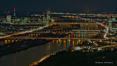 Vienna at night (Efrain_Rodriguez) Tags: paisaje landscape city ciudad night noche light luces bridge puente vienna river rio black negro street calle danube danubio