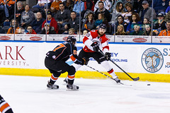 "Kansas City Mavericks vs. Cincinnati Cyclones, February 3, 2018, Silverstein Eye Centers Arena, Independence, Missouri.  Photo: © John Howe / Howe Creative Photography, all rights reserved 2018. • <a style=""font-size:0.8em;"" href=""http://www.flickr.com/photos/134016632@N02/40119439841/"" target=""_blank"">View on Flickr</a>"