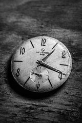 IMG_5554logo (Annie Chartrand) Tags: watch pocketwatch time clock macro movement numbers dial face hands stilllife antique old classic monochrome bw black white jewelry helbros