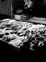 Saturday, Hackney (Darryl Scot-Walker) Tags: food fish market marketplace london hackney night candid street londonstreets streetphotography blackandwhite monochrome bw