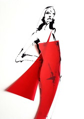 [20180203]-2 20180204_130434 (rodneyvdb) Tags: art collage contemporary drawing dress expression expressionism fashion femme figure figurative illustration ink modern model muse paper pose red sketch vogue woman
