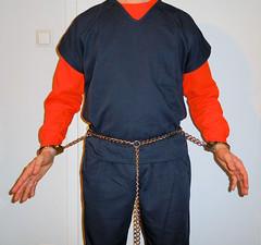 transport restraints (rainerzufall1234) Tags: inmate shackles handcuffs prisoner bellychain