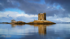 Out of the blue .. (Mike Ridley.) Tags: castlestalker castle scottishhighlands scotland winter snow morning blue bluesky sunrise lochlinne mikeridley sonya7r2 leefilters nature naturallight