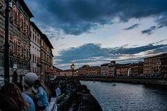 Pisa by NIght (Petricor Photography) Tags: night clouds cloudy italy architecture italia cloud toscana pisa arno notte sanranieri