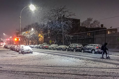 Evening Snow (jomak14) Tags: nyc newyork queens snowday sunnyside winter2018 iphone6plus peopleonthestreet explore