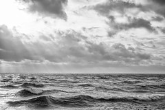 Waves (Sean Sweeney, UK) Tags: nikon d7000 dslr black white bw monochrome sea clouds waves turbulance tide brighton tidal ray rays storm