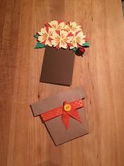 Happy  Birthday Flower Pot Card Orange and Yellow with Ladybug (greetingsfrompawtucket) Tags: happy birthday greeting card flowers flower pot unique stationary ladybug
